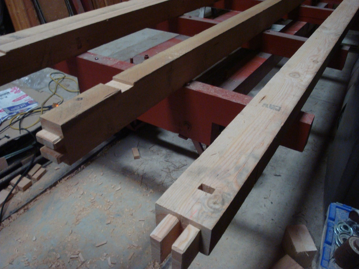 flatcar sills with draw bolt nut mortise and shear block notch.JPG