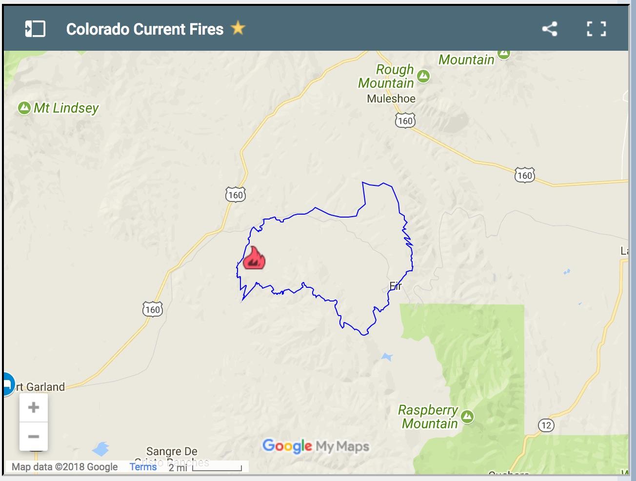 Current La Fire Map.Re La Veta Pass Fire