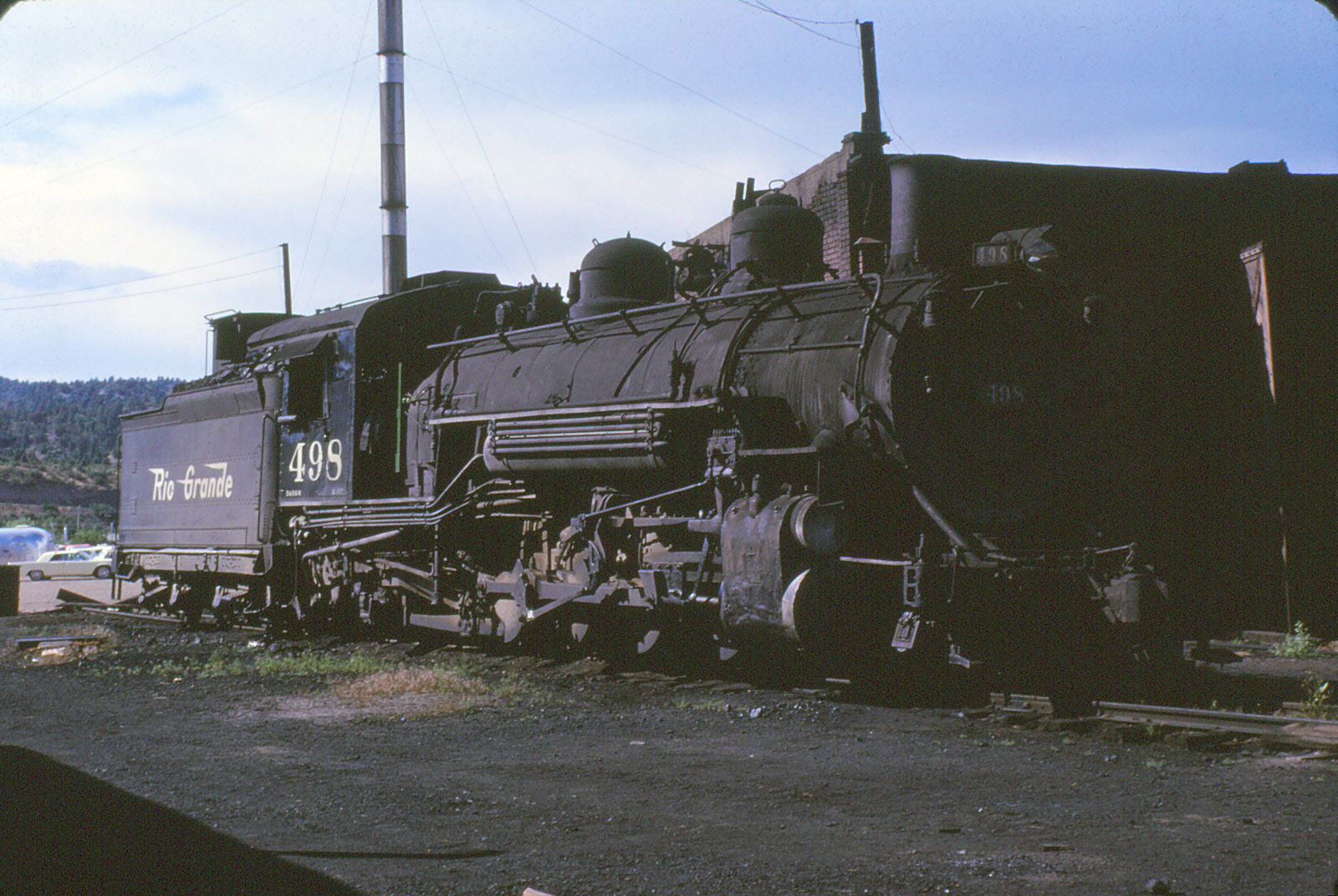 b11 D&RGW 498 at Durango July 1963 Ken Beaumont.jpg