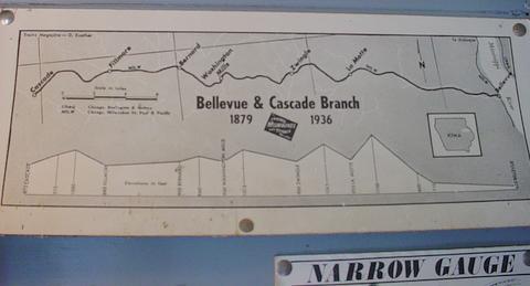 Cascade Iowa Map.Re Bellevue Cascade Narrow Gauge In Iowa